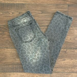 Jessica Simpson Leopard Print Jeans Forever Skinny
